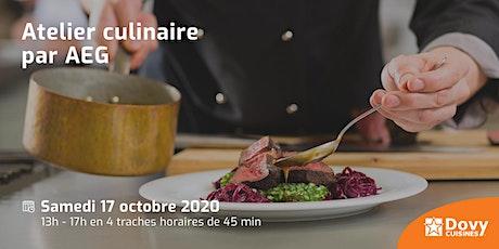 Atelier culinaire par AEG le 17/10 - Dovy Rhode-Saint-Genèse billets