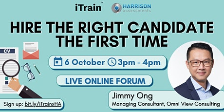 Hire the right candidate the first time tickets
