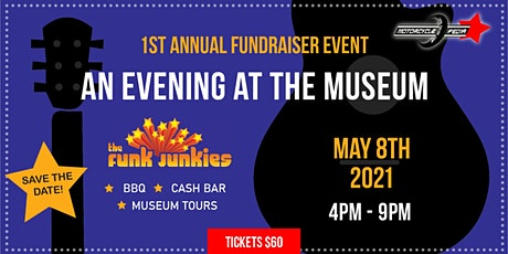 Motorcyclepedia Annual Fundraiser: BBQ and Live Music from The Funk Junkies tickets