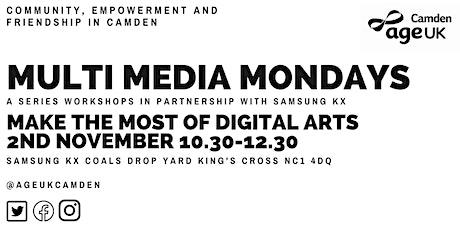 Digital Art-Multimedia Mondays with Age Uk Camden tickets