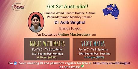 Masterclass on Magic with Maths and Vedic Maths boletos