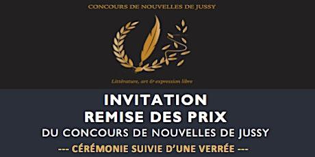Remise des Prix du Concours de Nouvelles de Jussy billets