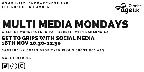 Social Media-Multimedia Mondays with Age UK Camden tickets