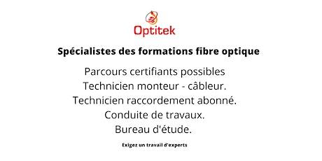 Formation Technicien fibre optique billets