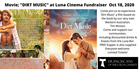 Fremantle Movie Night Fundraiser; 'DIRT MUSIC' adapted from TIM WINTON tickets