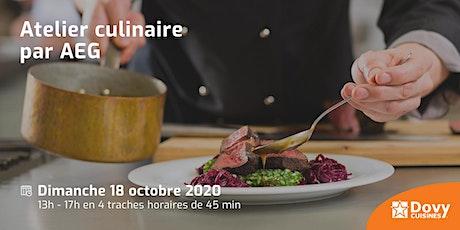 Atelier culinaire par AEG le 18/10 - Dovy Marche-en-Famenne billets