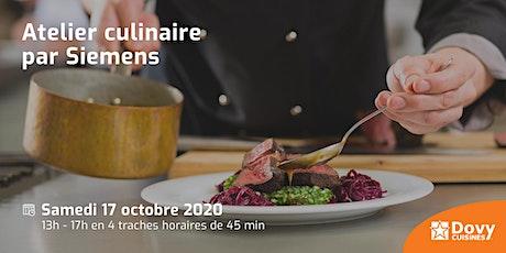 Atelier culinaire par Siemens le 17/10 - Dovy Audenarde billets