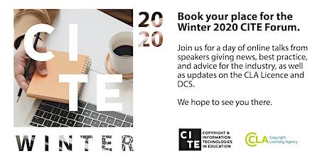Winter 2020 CITE Forum tickets