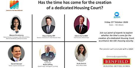 Has the time has come for the creation of a dedicated Housing Court? tickets