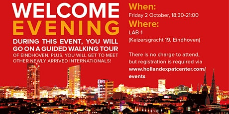 Welcome Evening for Internationals in Eindhoven: October 2020 tickets