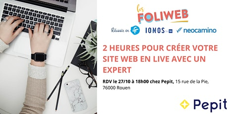 [Rouen] 2 heures pour créer votre site web en live avec un expert billets
