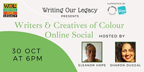 Writers & Creatives of Colour Online Social: w/ Eleanor Hope &Sharon Duggal tickets
