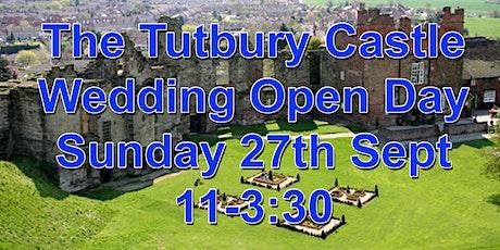 Tutbury Castle Wedding Marquee late summer wedding open day tickets