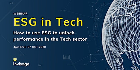 ESG in Tech: How to use ESG to unlock performance in the Tech sector tickets
