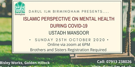 Islamic Perspective on mental health during covid-19 tickets