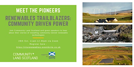 Meet the Pioneers. Renewables Trailblazers – Community Driven Power tickets
