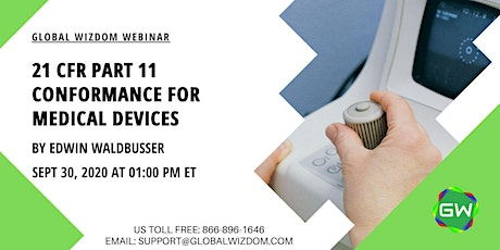 21 CFR Part 11 Conformance for Medical Devices tickets