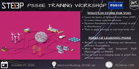 PSSE (Power System Simulator for Engineering) Software Training tickets