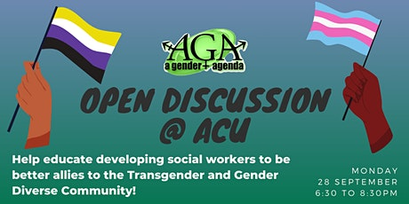 TGD & Social Work Student Open Discussion Night @ ACU tickets