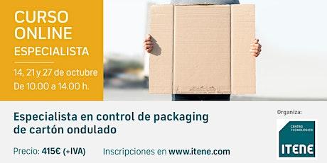 Curso Online - Especialista en control de packaging de cartón ondulado entradas