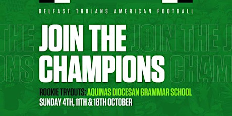 Belfast Trojans Rookie Tryouts - Day 3 tickets