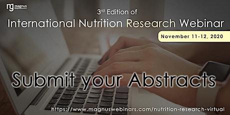 3rd Edition of International Nutrition Research Webinar tickets