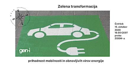 Zelena transformacija – prihodnost mobilnosti in obnovljivih virov energije tickets