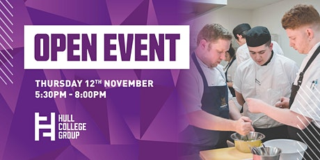 Hull College Open Event - 12th Nov tickets