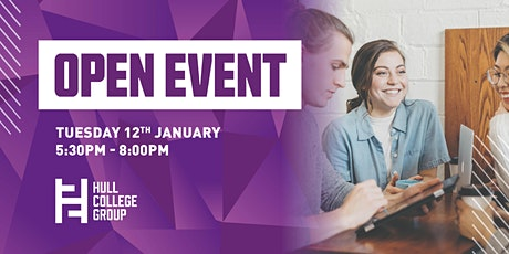 Hull College Open Event - 12th Jan tickets