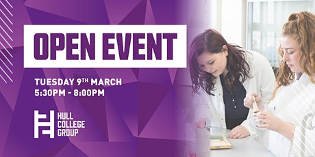 Hull College Open Event - 9th March tickets