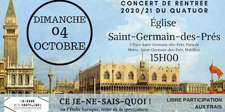 Quatuor Les Souffleurs billets