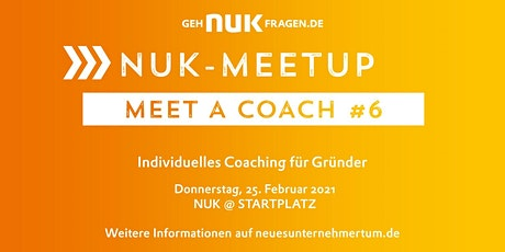 Meet a coach #6 | NUK-Meetup Tickets