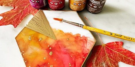 Wine Wednesday Workshop // Alcohol Inks Fall Coasters tickets