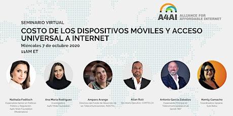 Seminario: Costo de los Dispositivos Móviles y Acceso Universal a Internet entradas