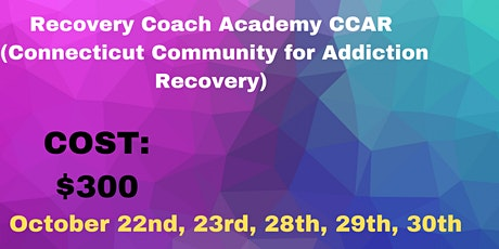 Recovery Coach Academy Seat Reservation- You Must Sign up for all 5 days tickets