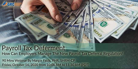 Payroll Tax Deferment - How can employers manage the new Payroll Tax tickets