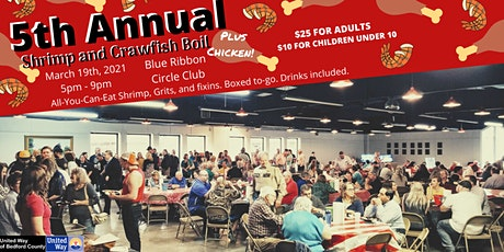 5th Annual Shrimp and Crawfish Boil benefiting United Way of Bedford County tickets
