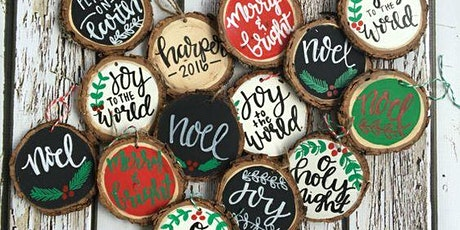 Faux Calligraphy and Christmas Ornaments Virtual Craft Workshop tickets