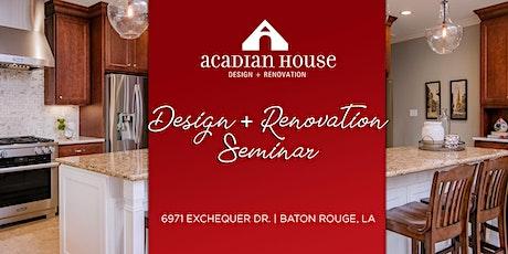 Design + Renovation Seminar tickets