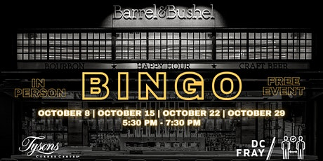 SOLD OUT // Happy Hour Bingo at Tysons Corner Center tickets
