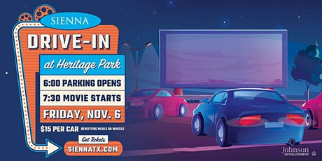 Drive-in at Heritage Park - $15/Car Benefiting Meals on Wheels tickets