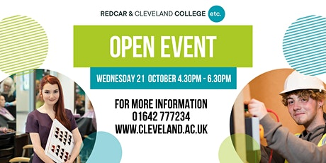 Redcar & Cleveland College Open Event tickets
