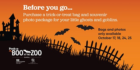 2020 Peek-a-Boo at the Zoo Trick-or-Treat Bags and Souvenir Photos tickets