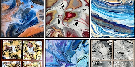 October 18  Fluid Art Canvas OR Coaster Painting Class tickets