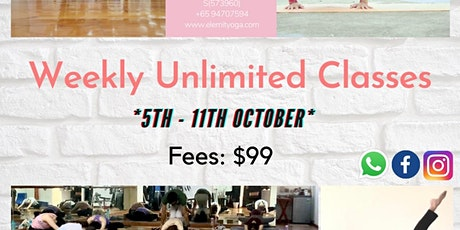 Weekly Unlimited Classes tickets