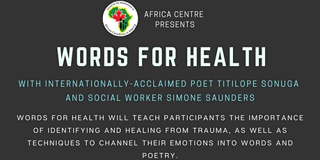 Words for Health pt.2 tickets