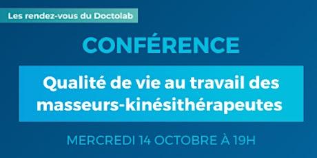 Conférence : Qualité de vie au travail des masseurs-kinésithérapeutes billets