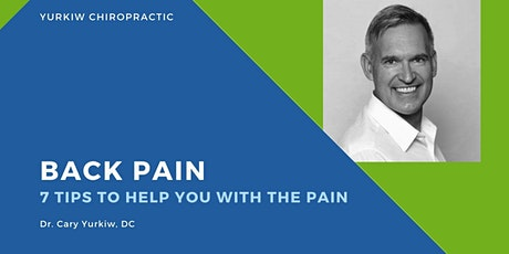 Do you have Back Pain? 7 important tips to help you manage the pain tickets