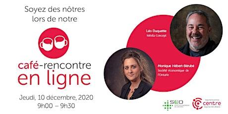 Café-rencontre en ligne avec Média Concept tickets