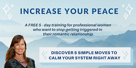 Increase Your Peace - Calm Stress and Anxiety tickets